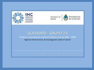 Glifosato y Cáncer – Argentina – El reconocimiento del Instituto Nacional del Cáncer