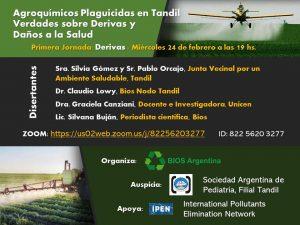 Jornadas: Agroquímicos Plaguicidas. Verdades sobre Derivas y Daños a la Salud