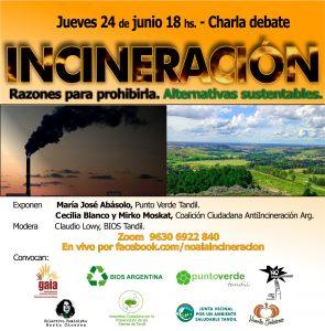 Charla-debate. INCINERACIÓN: Razones para prohibirla. Alternativas sustentables